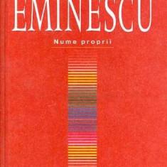 Dictionar Eminescu-Nume proprii - Horia Zava