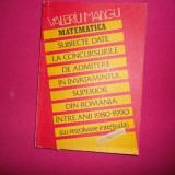 Probleme Date La Concursurile De Admitere - Valeriu Mangu - Carte Matematica