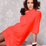 Rochie roşie - model franţuzesc