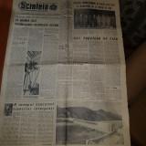Ziarul scanteia 7 septembrie 1964-inceputul construtiei portilor de fier