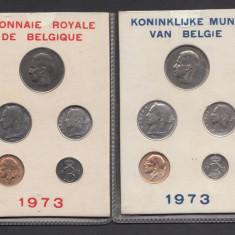 Set Monetarie Belgia 1973 1 5 10 25 50 PRET AMBELE, Europa