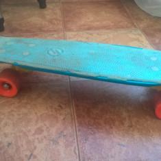 Cruiser skateboard penny board oxelo yamba cu grip albastru, Marime: 26