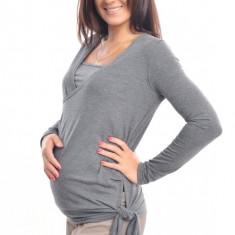 Tunică gri: pentru gravide şi alăptare - Bluza dama