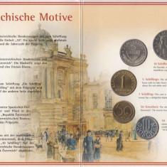 Set Monetarie Austria 2001 1 5 10 20 50, Europa