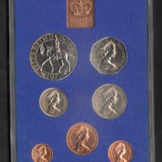 Set Monetarie Anglia 1977 pence 1 2 5 10 50, Europa