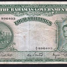 Bahamas 4 Shillings s896403 1953 P#13 - bancnota america