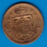 (MR5) MONEDA ROMANIA - 5 LEI 1930 H, REGENTA , MIHAI I