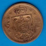 (MR5) MONEDA ROMANIA - 5 LEI 1930 H, REGENTA, MIHAI I
