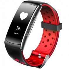 Bratara Fitness iUni Z11 Plus, Display OLED, Bluetooth, Pedometru, Monitorizare puls, Notificari, Android si iOS, Rosu