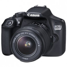 Aparat foto DSLR Canon EOS1300D, 18.0 MP, Obiectiv EF-S 18-55mm+Card 32gb gratis