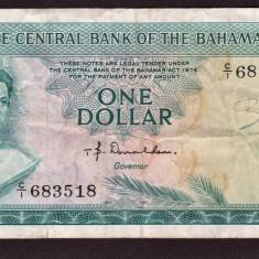 Bahamas 1 Dollar 1974 - bancnota america