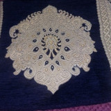 Carpeta vintage import, macat de perete superb cu ciucuri, 72 cm/50 cm.T.GRATUIT