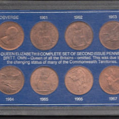 Set Monetarie Anglia 1 penny shilling 1961 ....1967, Europa
