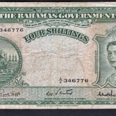 Bahamas 4 Shillings 1953 s346776 P#13 - bancnota america