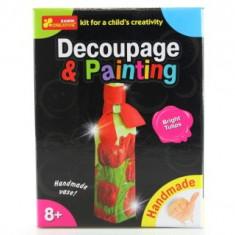 Joc Pentru Copii Decupaj si Pictura Lalele luminoase