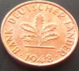 Moneda istorica 1 Pfennig - RF GERMANIA, anul 1948 *cod 4039 --- LITERA F, Europa
