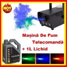 Masina De Fum Club Leduri Evenimente Telecomanda+1L Lichid