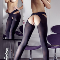 Sexy Black Stockings X, Negru, L/XL, S/M