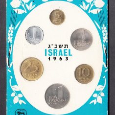 Set Monetarie Israel 1963 1 5 10 25, Asia