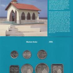 Set Monetarie Aruba 2001 1 5 10 25 50 2, 5, America de Nord