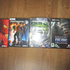 4 Jocuri PC de colectie, Spiderman, Hulk, Fantastic4, King Kong - Joc PC Activision, Actiune, 16+, Multiplayer