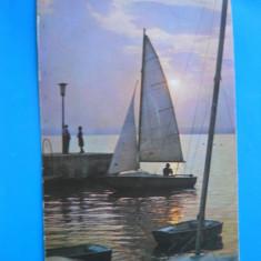 HOPCT 3517 ANUL 1983 APUS DE SOARE LACUL SIUTGHIOL / MAMAIA -CT-CIRCULATA - Carte Postala Dobrogea dupa 1918, Printata