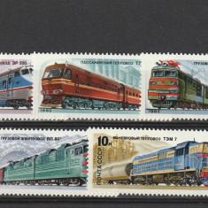 Locomotive electrice, URSS. - Timbre straine, Nestampilat