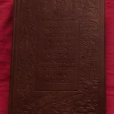 Machiavelli Le Prince in franceza editie de lux coperti, cotor in piele