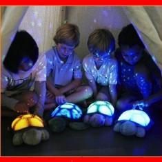 Lampa Veghe Copii Proiector Constelatii Tavan Broscuta Muzicala +USB Alimentare, Multicolor