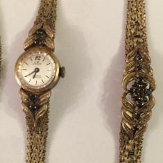 Set antic bijuterii vechi safire naturale