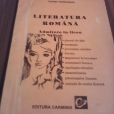LITERATURA ROMANA ADMITERE LICEU  CARMEN IORDACHESCU INDRUMATOR LITERAR