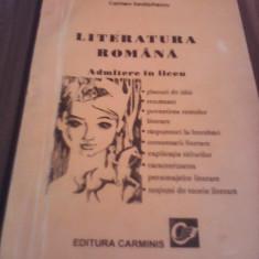 LITERATURA ROMANA ADMITERE LICEU CARMEN IORDACHESCU INDRUMATOR LITERAR - Carte Teste Nationale