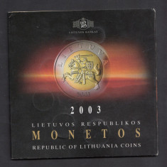 Set Monetarie Lituania 2003 1 2 5 10 20 50, Europa