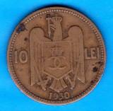 (MR1) MONEDA ROMANIA - 10 LEI 1930, CAROL II