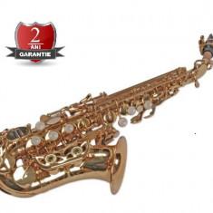 Saxofon Sopran curbat Karl Glaser AURIU NOU Sopranina Si bemol Germania