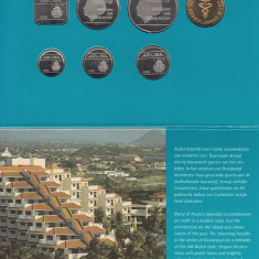 Set Monetarie Aruba 1995 1 5 10 25 50 2, 5, America de Nord