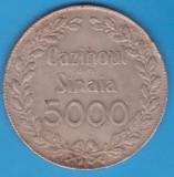 (R) JETON ROMANIA - CAZIONUL DIN SINAIA 5000, NR. 1111