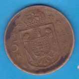 (MR11) MONEDA ROMANIA - 5 LEI 1930 PARIS, REGENTA , MIHAI I