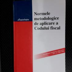 Norme Metodologice De Aplicare A Codului Fiscal - HAMANGIU - Carte Drept financiar