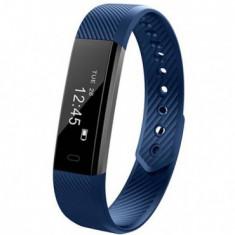 Bratara Fitness iUni ID115 Plus, Display OLED, Bluetooth, Pedometru, Monitorizare puls, Notificari, Android si iOS, Albastru MediaTech Power