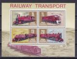 KUT  1971   trenuri  locomotive  MI bl.1  MNH w47, Nestampilat