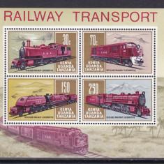 KUT 1971 trenuri locomotive MI bl.1 MNH w47 - Timbre straine, Nestampilat
