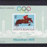 ROMANIA 1972, LP 789, PREOLIMPIADA MUNCHEN COLITA NEDANTELATA MNH - Timbre Romania, Nestampilat