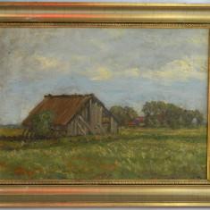 Ulei pe panza / vechi tablou inramat