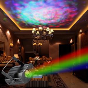 SUPER SCANNER LUMINI DISCO CU LEDURI RIPLES LED,ACTIVARE LA MUZICA,TELECOMANDA.
