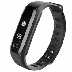 Bratara fitness iUni G16, Bluetooth, LCD 0.86 inch, Notificari, Pedometru, Monitorizare Sedentarism, Puls, Oxigen sange, Black MediaTech Power