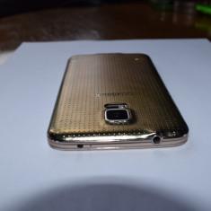 Samsung S5 - Telefon mobil Samsung Galaxy S5, Auriu, 16GB, Neblocat, Dual SIM