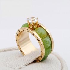 Inel Diamond Bvlgari Green ! -Cadoul de Valentine's ! - Inel Swarovski