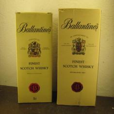 2 sticle ani 80/90 whisky ballantines, finest NEGRU scotch whisky cl.70 gr. 40