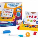 Set tablita magnetica 2 in 1 cu litere cifre marker si buret - Joc board game
